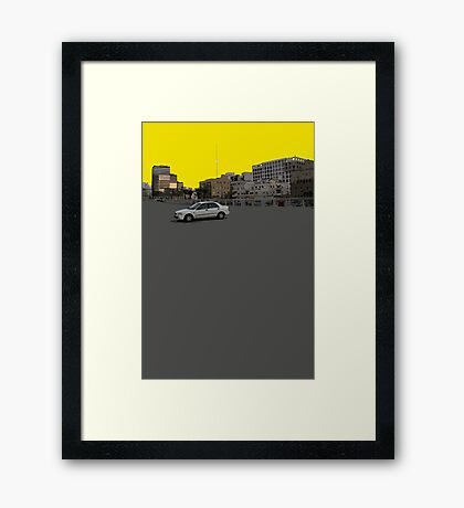 lonely car Framed Print