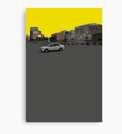 lonely car Canvas Print