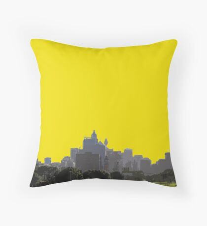 two people and the city Throw Pillow