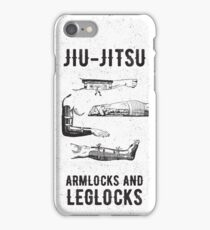 Jiu-jitsu. Armlocks and leglocks. iPhone Case/Skin