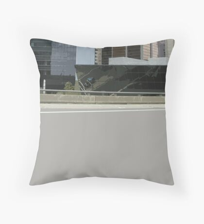 empty city Throw Pillow