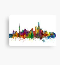 Shanghai China Skyline Canvas Print