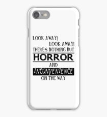 Look away! iPhone Case/Skin