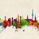 Hamburg Germany Skyline by Michael Tompsett