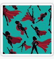 Seamless super hero women design.  Sticker