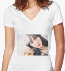 Girls Generation Taeyeon I Got Love Women's Fitted V-Neck T-Shirt