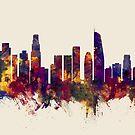 Los Angeles California Skyline by Michael Tompsett