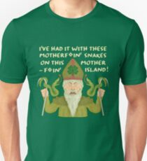 Funny Saint Patrick's Day Snakes Joke Irish Unisex T-Shirt