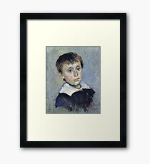 Claude Monet - Portrait Of Jean Monet, 1880 Framed Print
