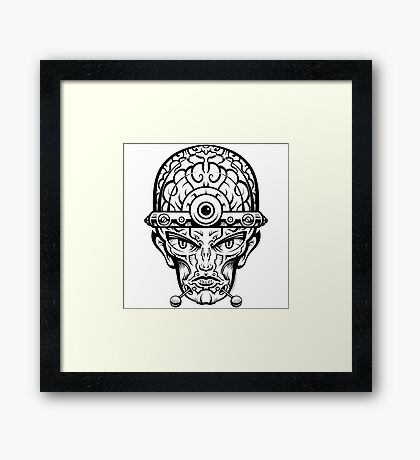 Eye Don't Mind Framed Print