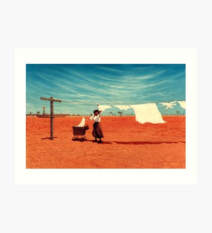 Outback Washday Art Print