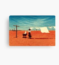 Outback Washday Canvas Print