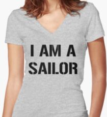 I am a Sailor, United States Navy Women's Fitted V-Neck T-Shirt