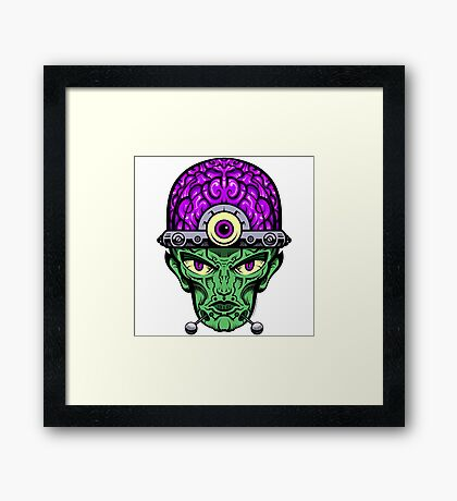 Eye Don't Mind - Full Color Jacket remix Framed Print