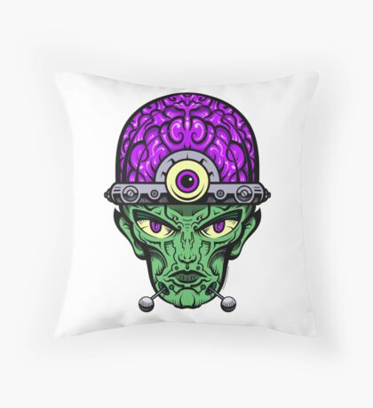 Eye Don't Mind - Full Color Jacket remix Throw Pillow