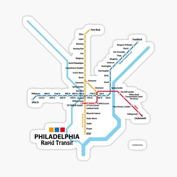 PHILADELPHIA Rapid Transit Network Sticker