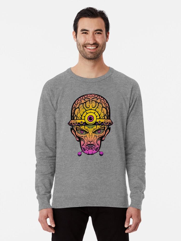 Alternate view of Eye Don't Mind - Alternative Fax remix Lightweight Sweatshirt