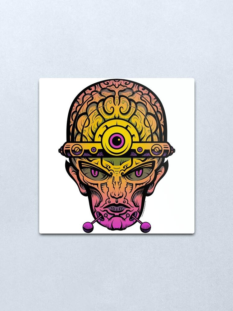 Alternate view of Eye Don't Mind - Alternative Fax remix Metal Print
