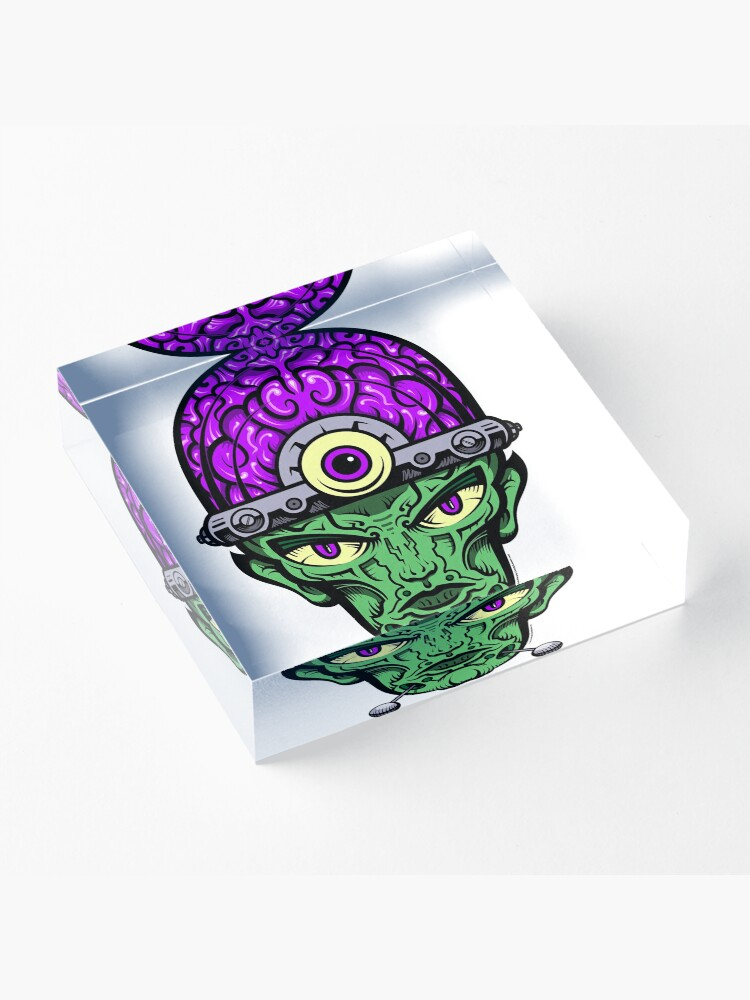 Alternate view of Eye Don't Mind - Full Color Jacket remix Acrylic Block