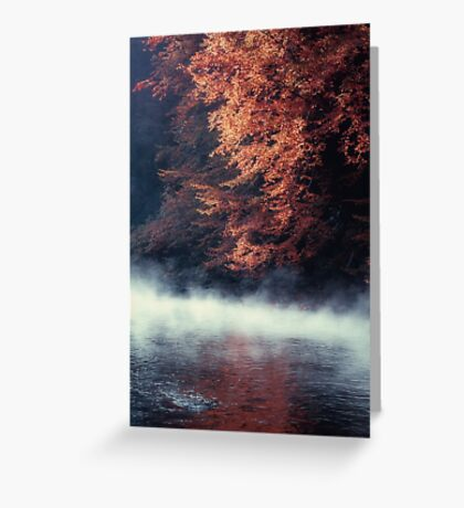 Nature*s Mirror - Fall at the River Greeting Card