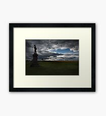Soldier Guarding the Battlefield Framed Print