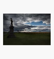 Soldier Guarding the Battlefield Photographic Print