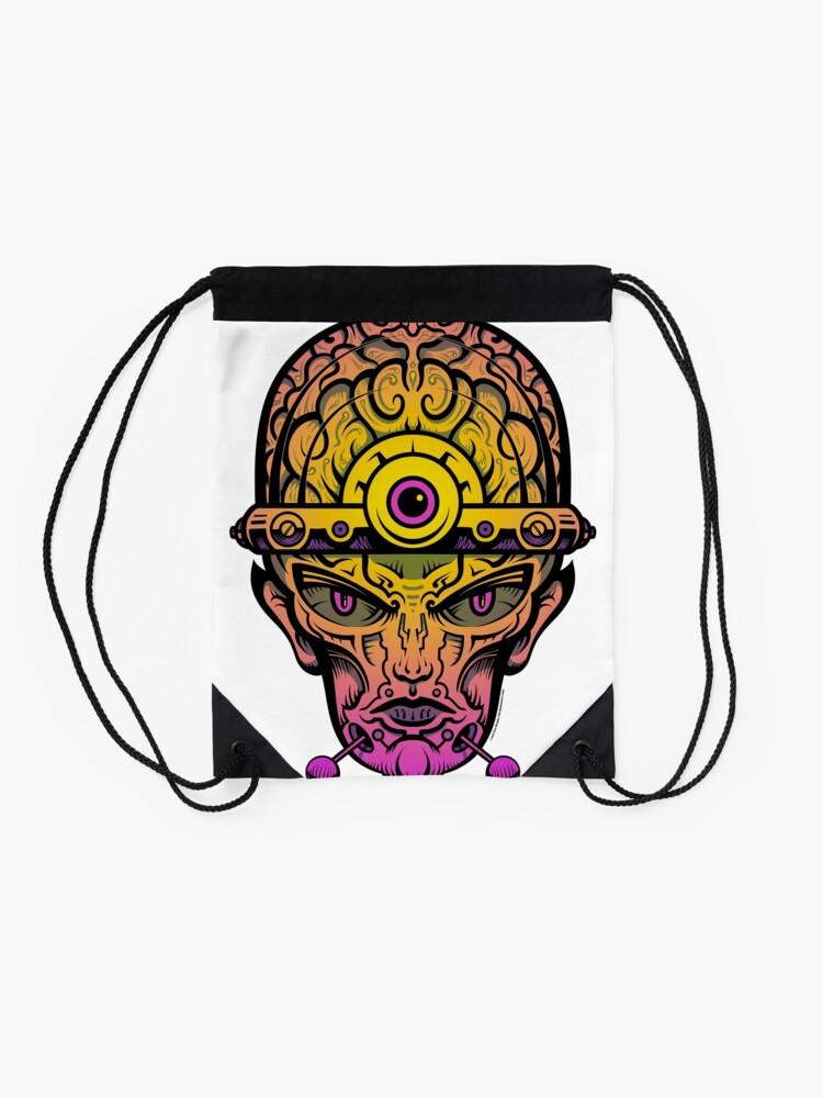 Alternate view of Eye Don't Mind - Alternative Fax remix Drawstring Bag