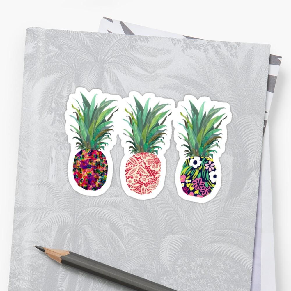 paquete de pegatinas de piña Pegatina