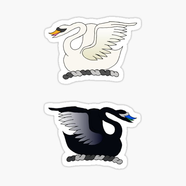 Swans in the lake Sticker