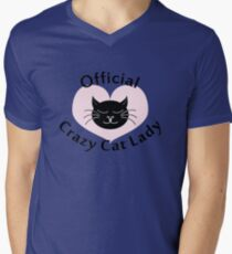 Official Crazy Cat Lady. Men's V-Neck T-Shirt