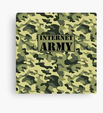 Internet Army  Canvas Print