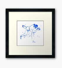 Painted Judo Throw (Judo / BJJ / Sambo) Framed Print
