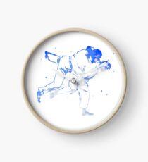 Bemalter Judowurf (Judo / BJJ / Sambo) Uhr