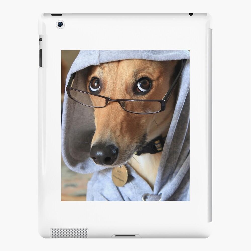 Funny Dog Wearing Glasses iPad Case & Skin