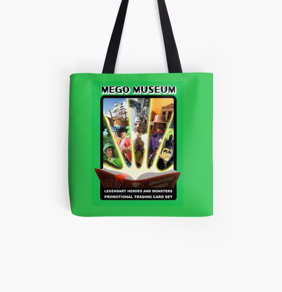 Mego Legends Monsters Pirates Knights All Over Print Tote Bag