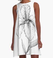 Iris flower. A-Line Dress