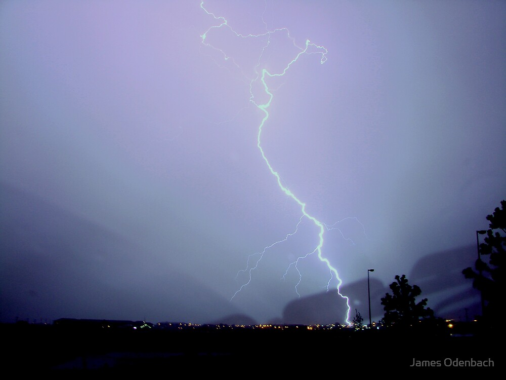 Lightning bolt by James Odenbach