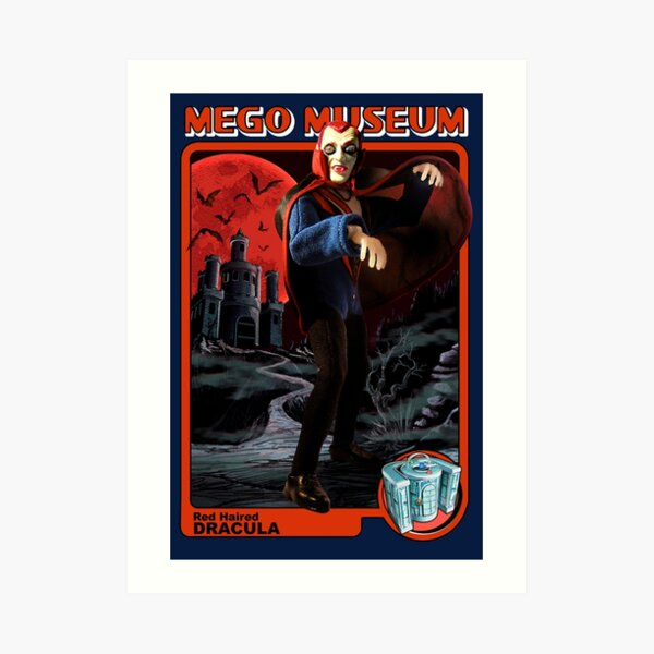 Mego Red Haired Dracula Art Print