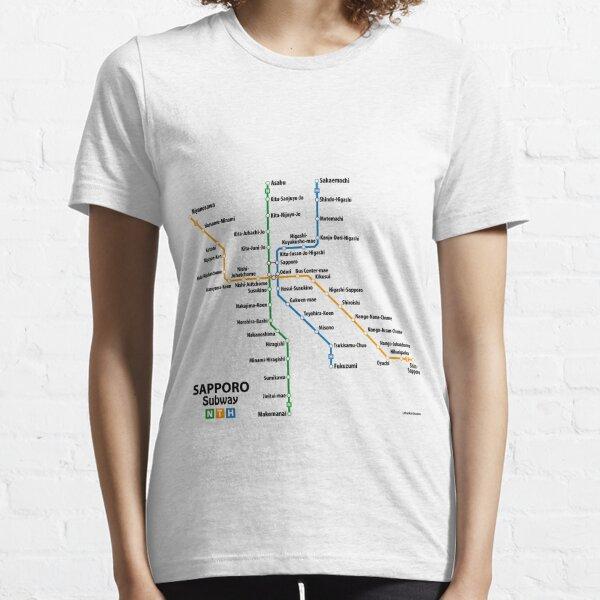 SAPPORO Subway Network Essential T-Shirt