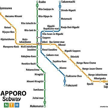 SAPPORO Subway Network by UrbanRail