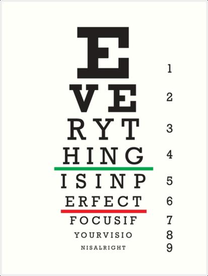 Eye Test Chart Art Prints By Alex Dee Redbubble