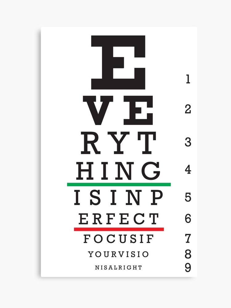 photo about Eye Chart Printable identify Eye verify chart Canvas Print