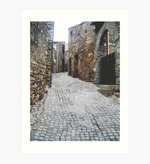 Cobbled Street Art Print