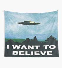 I want to Believe - X-Files Wall Tapestry