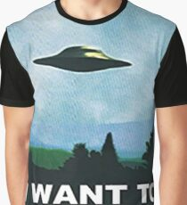 I want to Believe - X-Files Graphic T-Shirt