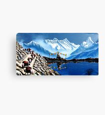 Panoramic View Of Annapurna Mountain  Nepal Canvas Print