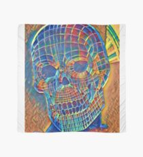 Chilled out Skull, Cubism Acrylics. Scarf
