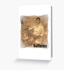 GUILLERMO SITTING FOR PORTRAIT Greeting Card