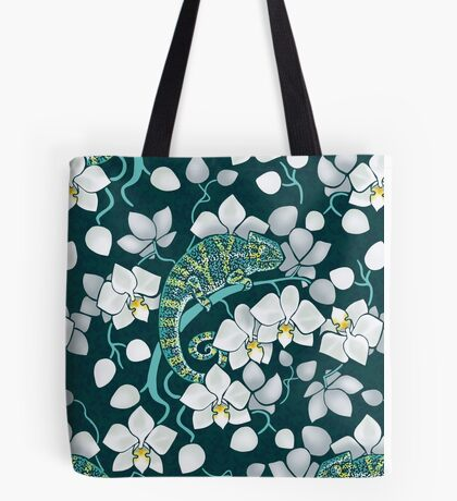 chameleons and orchids  Tote Bag