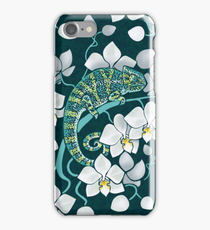 chameleons and orchids  iPhone Case/Skin
